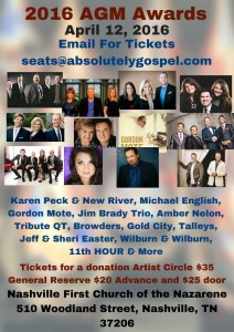 Hosts and Performers Announced for 2016 Absolutely Gospel Music Awards Celebration